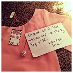 Every girl needs this romantic gesture at least once in her life!  Oh and tell him to get the dress at Flourish Boutique  :)