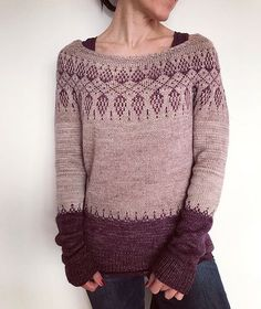 yarn kits for this pattern can be found at LAINE des ILES