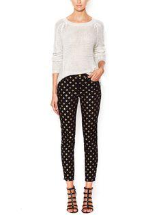 Stud Embellished Skinny Jean