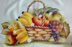 Pintura top Watercolor Fruit, Fruit Painting, Watercolor Canvas, Fabric Painting, Watercolor Paintings, Tole Decorative Paintings, Painting Words, Wine Decor, Decoupage Vintage