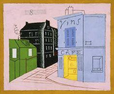 Stuart Davies, Blue Café, 1928