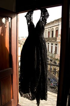 Black wedding dress, vintage wedding, dominican republic, Zona Colonial