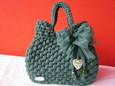 Handmade crochet bag from rope Bag Crochet, Crochet Clutch, Crochet Handbags, Crochet Purses, Sacs Design, Yarn Bag, Macrame Bag, Knitted Bags, Handmade Bags