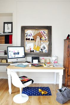 Simple small rug under desk