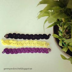 Scallop bracelet crochet