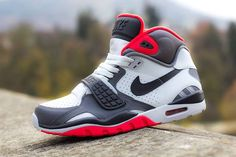 Nike Air Trainer SC II Pure Platinum/Dark Grey-Crimson Bcanos!!!