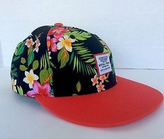 BYFULL TREND Eight Five Unisex Cap Hat with Flowers Hawaiian Style Hipster