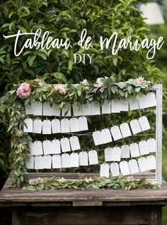 Tableau de mariage fai da te per un matrimonio romatico | Where Pretty Happens