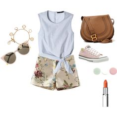 for my little sister by bbs-karen on Polyvore featuring polyvore fashion style TIBI Converse Chloé Tory Burch Fendi RMK Nails Inc.