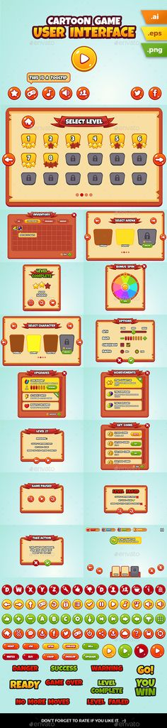 Buy Cartoon Game User Interface by hamdirizal on GraphicRiver. Complete/ full cartoon game UI for your next mobile (android, ios or games. Suitable for (but not limited to) . Jeopardy Game Template, Powerpoint Game Templates, Board Game Template, Drawing Games For Kids, Card Games For Kids, Kids Party Games, Outdoor Water Games, Easter Games For Kids, Game Gui