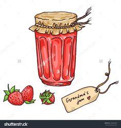 草莓自制的奶奶与标签和水果果酱,向量素描风格的插图-食品及饮料,物体-海洛创意(HelloRF)-Shutterstock中国独家合作伙伴-正版素材在线交易平台-站酷旗下品牌