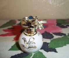Bee on a Rose Porcelain Perfume Bottle by CactusKates on Etsy