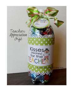 8 Teacher Appreciation Soda Bottle Gift Labels and 3 Gift Tags-Fill a Soda Bottle-Tutorial Included