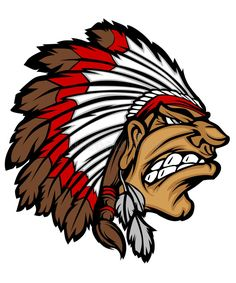 Illustration about Vector Cartoon of Indian Chief Mascot Logo. Illustration of head, american, illustrations - 18126581 Native American Drawing, Native American Symbols, Native American History, Chiefs Mascot, Chiefs Logo, Native Drawings, Minions, Indian Tattoo Design, American Football