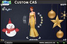 Custom CAS Christmas Blue - Simszoo