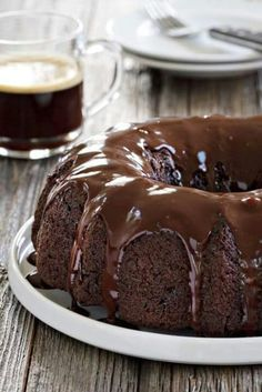 Chocolate courgette bundt cake