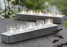 Nostalgiset kynttilälyhdyt syntyvät lapsuuden juomalaseista ja betonista. Katso Meidän Mökin ohjeet ja tee tunnelmallinen lyhtyrivistö vaikka illanistujaisiin!