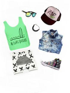 Summer essentials with HAUS OF ROME tank! #surfboard harem shorts are asherandcrew.com  hausofrome.com