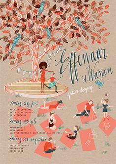 Effenaar - poster Effenaar 't Wasven 2014 - by Studio Het Paradijs