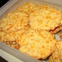 We enjoyed these easy to make Cheese Crispies!  A little different that the one we made on the show.  The exact one we made can be found here:  http://backtothecuttingboard.com/soups-and-sides/crispy-cheese-crackers/
