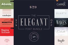 """Check out this @Behance project: """"THE ELEGANT FONT BUNDLE - LIMITED TIME ONLY"""" https://www.behance.net/gallery/60893695/THE-ELEGANT-FONT-BUNDLE-LIMITED-TIME-ONLY"""