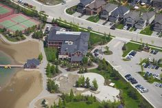 Auburn House, beach & splash park www.liveauburnbay.ca Brookfield Residential, Splash Park, Multipurpose Room, Community Events, Auburn, Square Feet, Mansions, House Styles, Beach
