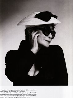 Yoko Ono in 'Audrey' Oliver Goldsmith Sunglasses #olivergoldsmith #sunglasses #audrey #yokoono