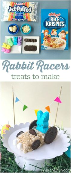New on the blog! These Rabbit Racers are a great last-minute NO BAKE Easter treat!! :-)  Rabbit Racer Treats  #sponsored