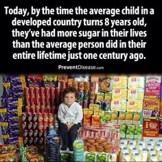 Even if it's not real sugar but HFCS which destroys the liver.