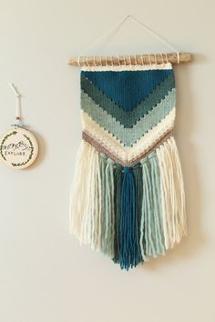 Woven wall hanging tapestry small tapestry wall art woven