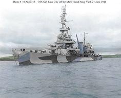 USS Salt Lake City ( CA 25 ) by DeltaSquad170305 on DeviantArt Heavy Cruiser, Us Navy Ships, Naval History, Military Diorama, United States Navy, Salt Lake City, Battleship, World War Ii, Great Places