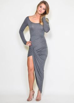 Grey Asymmetrical Dress from Saylor, for that special night out!