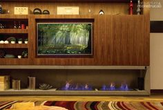 Home theaters com lareira Resultado - hometheaters Home Theaters, Day Room, 100 M2, O Gas, Home Tv, Rustic Industrial, Vintage Decor, Liquor Cabinet, Living Room Decor