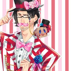 Wilford Warfstache and Tiny Box Tim! by Ozumii.deviantart.com on @DeviantArt