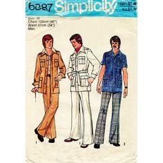 1970s Men's Leisure Suit Jacket or Shirt Vintage by BessieAndMaive, $14.00