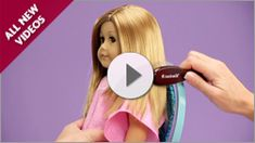 nice little videos on the american girl website shows how to care for all types of doll hair American Girl Doll Hair Care, American Girl Doll Videos, American Girl Crafts, American Girl Clothes, American Dolls, Ag Dolls, Girl Dolls, American Girl Hairstyles, Ag Hair Products