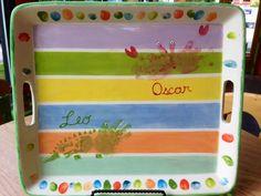 Handprint Platter Painted By Customer