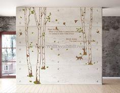 Rain Forest Birch Tree Wall Decals – WallDecalMall.com