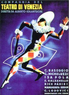 By Gino Boccasile (1901-1952), Teatro di Venezia. (I)