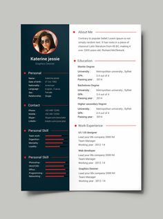 Free Professional Resume   CV Template (PSD) More