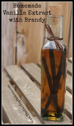 Homemade Vanilla Extract with Brandy - The Darling Bakers