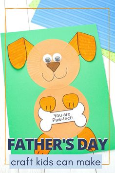 Don't miss this easy Fathers Day craft that kids can make. With just a few simple supplies, kids can show Dad how much they love him! fathers day day diy day food ideas day gifts from kid day cake day crafts Easy Fathers Day Craft, Cool Fathers Day Gifts, Fathers Day Cards, Diy Father's Day Crafts, Father's Day Diy, Crafts For Kids, Spring Crafts, Yarn Crafts, Fathersday Crafts