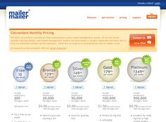 Mailer Mailer - pricing page design