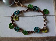Martinuska / krúžkový patinovaný náramok Handmade Bracelets