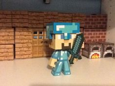 Minecraft diamond Steve figure