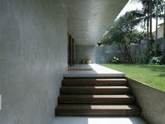 Casa Marrom, Sao Paulo, Entrance Steps, Architect: Isay Weinfeld Stretched Canvas Print