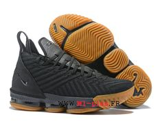2c72d1f55ba Nike Lebron 16 XVI Chaussures De BasketBall Pas Cher Fresh Homme Brun noir  AO2588-l102