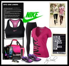 """First time in the gym..."" by eula-eldridge-tolliver on Polyvore fashion, time, sexi workout, eulaeldridgetolliv, polyvore, gym, workout girl, fit life, workout attir"
