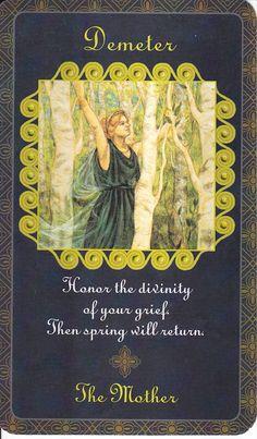 ✯ Demeter in Goddess Inspiration Oracle :: By Kris Waldherr ✯