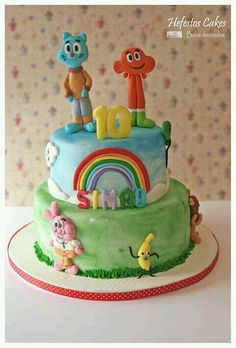 Amazing World Of Gumball Cake Cakes Pinterest Gumball Cake And Funny Cake